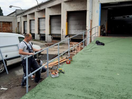 Zhotovení betonového nájezdu do haly pro VZV v areálu ČSAD Olomouc